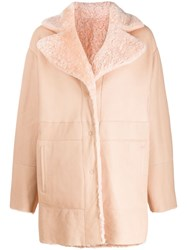 Drome Reversible Single Breasted Coat Pink