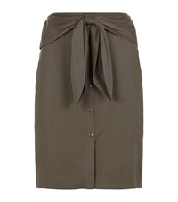 Reiss Dakota Bow Front Skirt Female Khaki