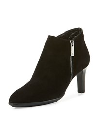 Aquatalia By Marvin K Dina Side Zip Ankle Boot Black