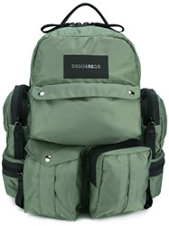 Dsquared2 Utilitary Backpack Green