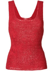 Tela Woven Tank Top Red