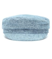 Isabel Marant Evie Cotton Denim Cap Blue