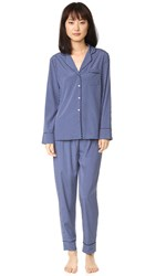 Stella Mccartney Poppy Snoozing Pj Set Dark Ink Dot Print
