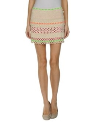 Moschino Cheap And Chic Moschino Cheapandchic Mini Skirts Beige