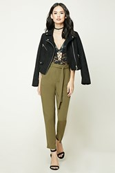 Forever 21 Belted Palazzo Pants
