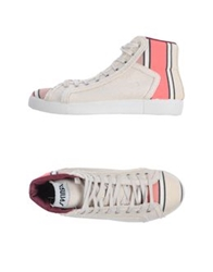 Springa High Top Sneakers Ivory