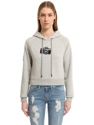 Tommy Hilfiger Cropped Cotton Sweatshirt Gigi Hadid
