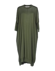 Jucca Knee Length Dresses Military Green