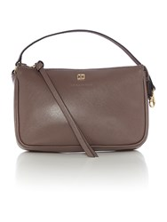 Coccinelle Taupe Cross Body Pouch Taupe
