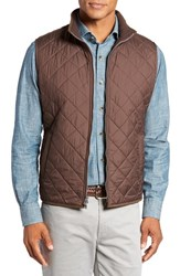 Peter Millar Men's 'Hudson' Lightweight Quilted Vest Bison