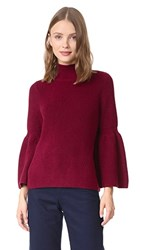 525 America Shaker Crop Sweater Blackcherry