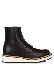 Givenchy Rottweiler Leather Lace Up Ankle Boots Black
