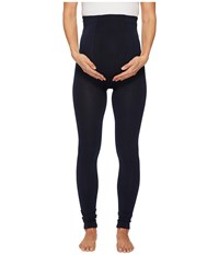 Plush Maternity Fleece Lined Footless Tights Navy Hose