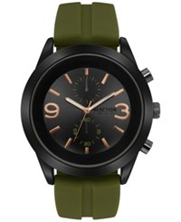 Kenneth Cole New York Men's Chronograph Green Silicone Strap Watch 47Mm 10031458