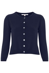 Nougat London Tansy Cropped Cardigan Navy