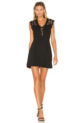 Bcbgeneration Lace Inset Dress Black