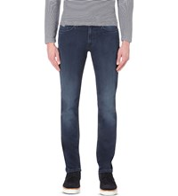 Hugo Boss Leisure Slim Fit Tapered Denim Jeans Medium Blue