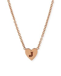 Zoe Chicco 14K Tiny Heart Initial Pendant Necklace Gold