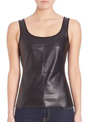 Bailey 44 Fonda Faux Leather Tank Top Black