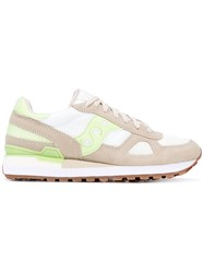 Saucony Shadow Original Sneakers Women Cotton Leather Polyester Rubber 7 Nude Neutrals