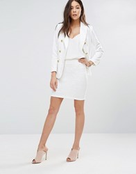 Unique 21 Bodycon Mini Skirt White