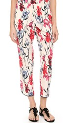 Thakoon Crop Pants Pink Multi