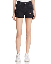 Guess Boy Fit Shorts In Destroyed Black