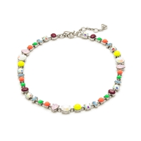 J.Crew Colorful Crystal Necklace Sweet Melon