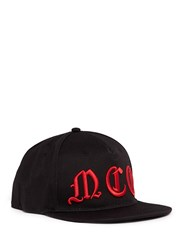 Mcq By Alexander Mcqueen Gothic Logo Embroidered Baseball Cap Black