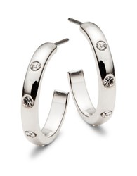 Kate Spade Infinity And Beyond Silvertone Small Hoops