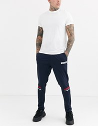 Jack And Jones Logo Taped Track Sweat Joggers In Navy