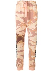 Faith Connexion Los Angeles Camouflage Joggers Yellow And Orange