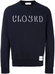 Closed Embroidered Logo Sweatshirt Blue