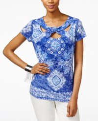 Inc International Concepts Printed Cutout Twist Top Only At Macy's Amazing Medallion
