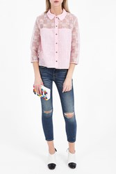 Paul Joe Sister Women S Groupy Cat Embroidered Shirt Boutique1 Pink