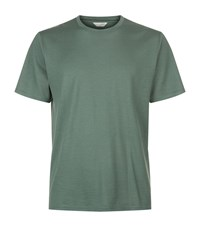 Gieves And Hawkes Wool Crew Neck T Shirt Male Green