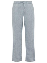 Orlebar Brown Stoneleigh Linen Trousers Blue