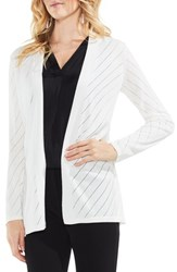Vince Camuto 'S Open Front Pointelle Cardigan New Ivory
