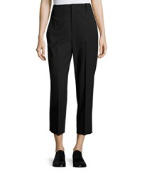 Vince High Rise Wool Crop Trousers Black