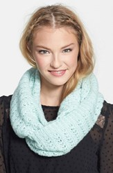 Junior Women's Bp. Chevron Pointelle Infinity Scarf Green Aqua