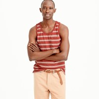J.Crew Textured Cotton Tank Top In Red Stripe