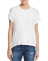 Aqua High Low Short Sleeve Tee 100 Exclusive White