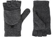 Barneys New York Convertible Fingerless Gloves Grey