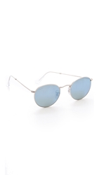 Ray Ban Icons Mirrored Sunglasses Silver Green Mirror Silver