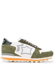 Atlantic Stars Panelled Sneakers Green