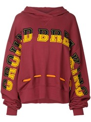 House Of Holland Ground Breaking Oversize Hoodie Red