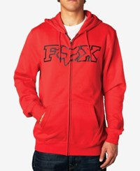 Fox Men's Graphic Print Hoodie Flaming Red
