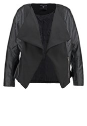 Dorothy Perkins Curve Faux Leather Jacket Black