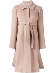 Cacharel Belted Coat Nude And Neutrals