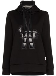 Moncler Grenoble Maglia Neck Insert Hooded Jumper Black